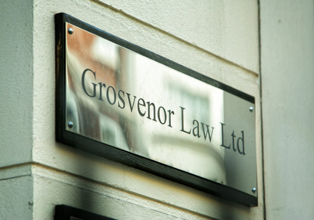 image of grosvenor law plaque