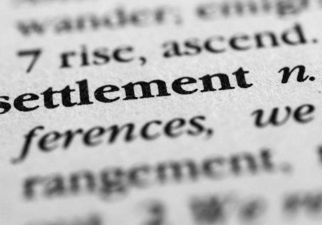 Settlement-dictionary-definition